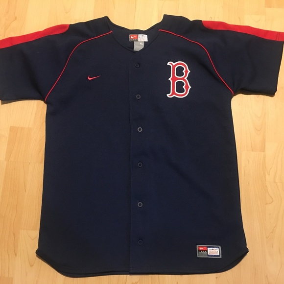 ... ebay nike boston red sox jersey blue red size xl 1ac43 06ae3 ... 7e00114a160